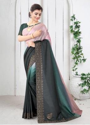 Green Silk Shaded Saree