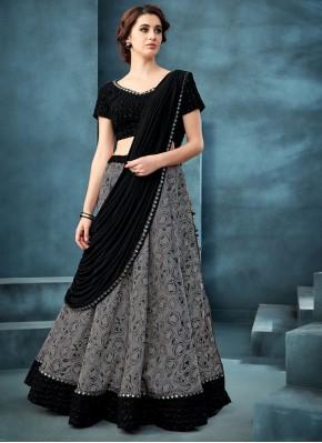 Grey Color Trendy A Line Lehenga Choli