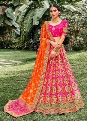 Gripping Embroidered Silk Bollywood Lehenga Choli