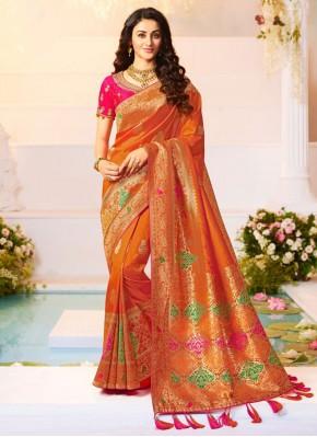 Groovy Banarasi Silk Weaving Trendy Saree