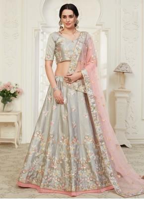 Groovy Grey Silk Designer Lehenga Choli
