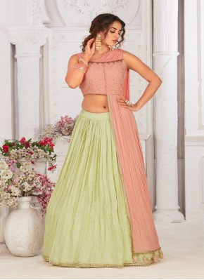 Hand Embroidery Chinon Designer Sleeve less Choli in