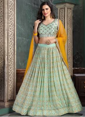 Hand Embroidery Georgette Designer Readymade Lehngha Choli in