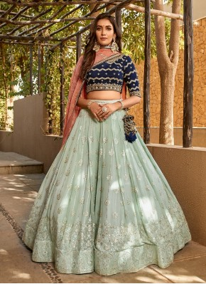 Hand Embroidery Pure Georgette Designer Readymade Lehngha Choli