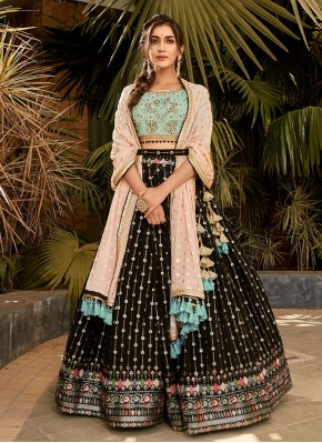 Hand Embroidery Pure Georgette Designer Readymade Lehngha Choli in