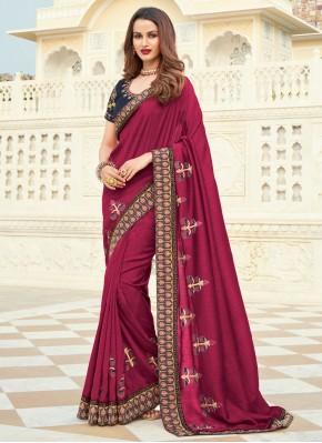Heavenly Magenta Silk Designer Saree