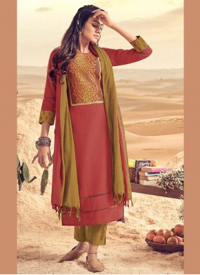 Heavenly Rust Festival Readymade Salwar Kameez