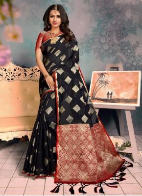 Honourable Black Classic Saree