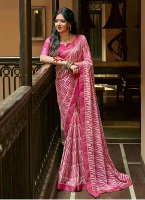 Honourable Pink Printed Saree