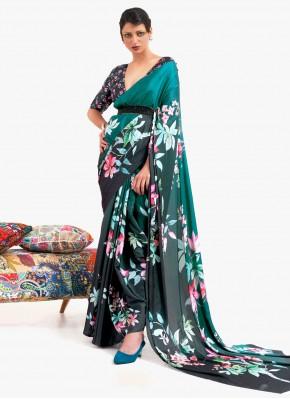 Honourable Satin Printed Saree