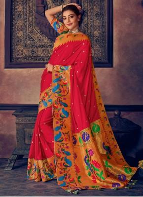 Hot Pink Reception Designer Saree