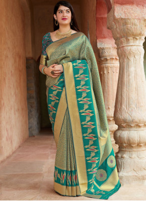 Hypnotizing Green Traditional Saree