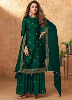 Ideal Embroidered Silk Designer Pakistani Suit