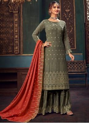 Ideal Faux Georgette Festival Designer Pakistani Salwar Suit