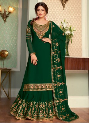 Immaculate Embroidered Shamita Shetty Faux Georgette Long Choli Lehenga