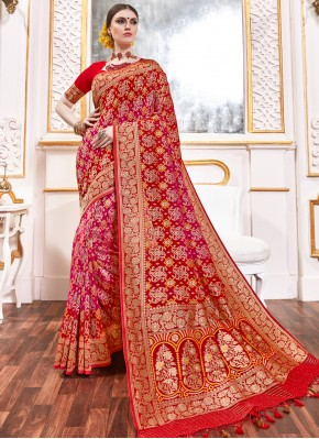 Immaculate Weaving Multi Colour Viscose Classic Saree