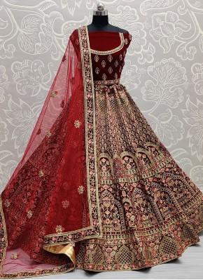 Impeccable Velvet Lehenga Choli