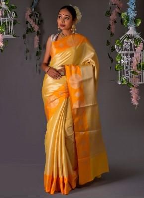 Imperial Mustard Weaving Traditional Designer Saree