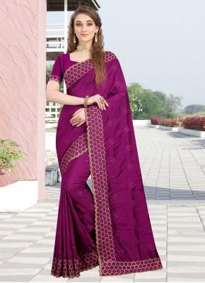Imperial Silk Magenta Designer Bollywood Saree