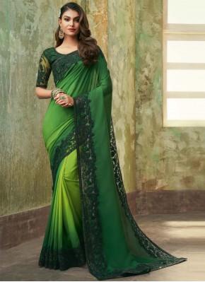 Imposing Faux Chiffon Ceremonial Designer Saree