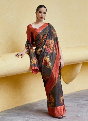 Imposing Satin Blend Trendy Saree