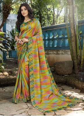 Imposing Silk Digital Print Contemporary Saree