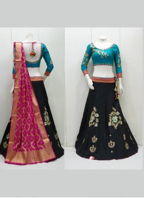 Imposing Tafeta Silk Readymade Lehenga Choli