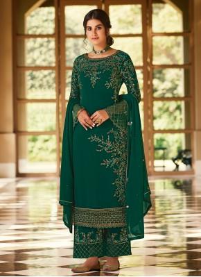 Impressive Green Designer Pakistani Suit