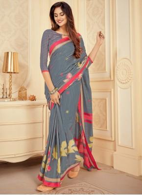 Impressive Satin Silk Trendy Saree