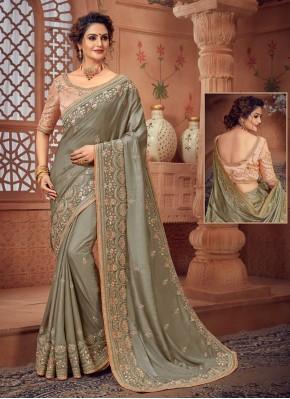 Impressive Silk Border Designer Bollywood Saree