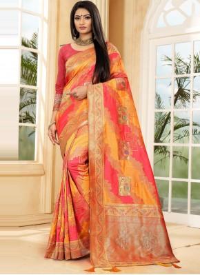 Impressive Weaving Sangeet Traditional Designer Saree