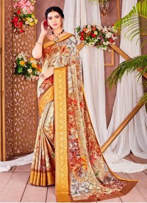 Incredible Faux Chiffon Printed Saree