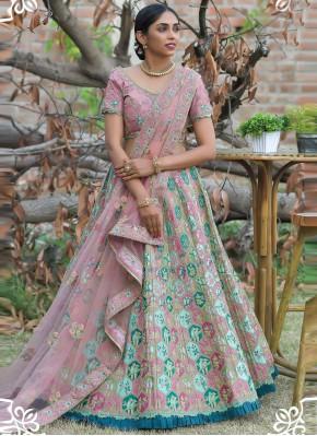 Incredible Resham Pashnima Silk Lehenga Choli