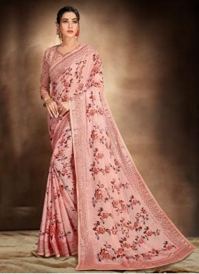 Incredible Satin Printed Saree