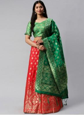 Incredible Weaving Banarasi Silk Lehenga Choli