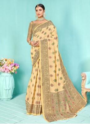 Incredible Weaving Silk Designer Traditional Saree