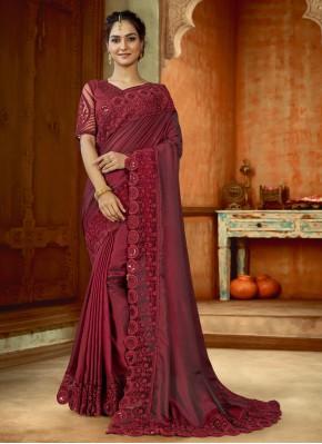 Innovative Embroidered Wedding Contemporary Saree