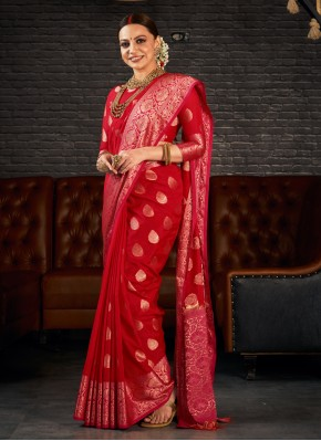 Innovative Red Classic Saree