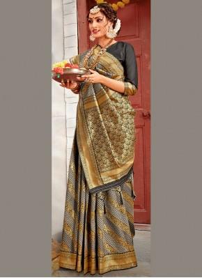 Innovative Weaving Traditional Designer Saree