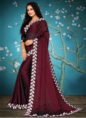 Integral Lace Fancy Fabric Traditional Designer Saree