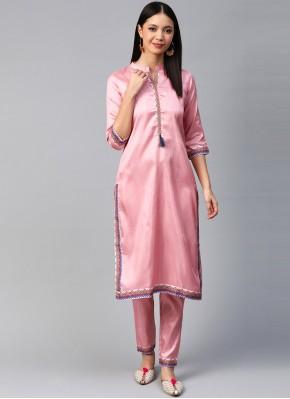 Integral Print Poly Silk Designer Kurti