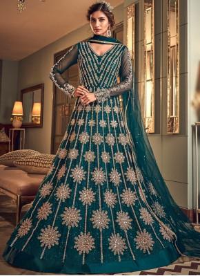 Intricate Long Length Designer Anarkali Suit For Reception