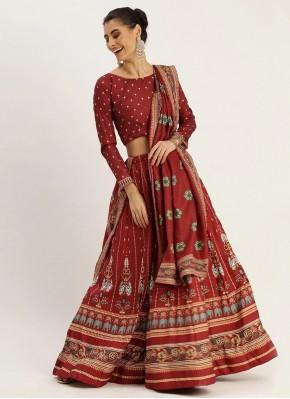 Intricate Maroon Bollywood Lehenga Choli