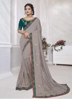 Intricate Patch Border Ceremonial Designer Saree