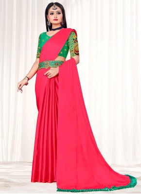 Intricate Red Embroidered Classic Designer Saree