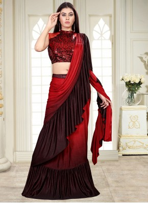 Intricate Sequins Shaded Saree