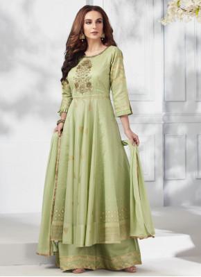 Intricate Silk Embroidered Designer Salwar Suit