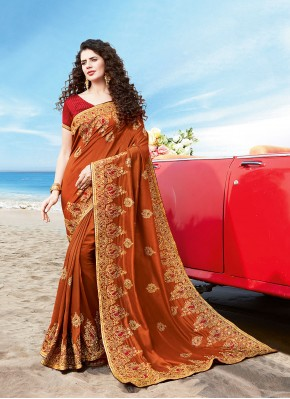 Intricate Silk Resham Designer Traditional Saree