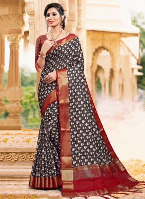 Intriguing Art Silk Printed Classic Saree