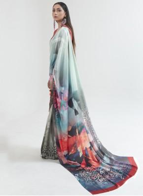 Intriguing Multi Colour Saree